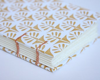 Small Coptic Stitch Trees Notebook