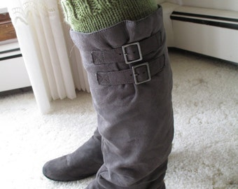 Green Boot Toppers/Boot Cuffs