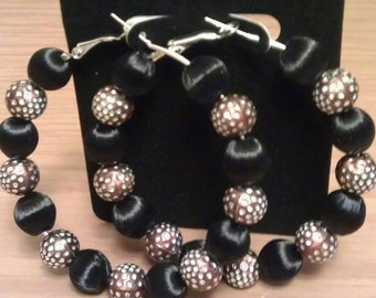 Basketball wives and Love and Hip Hop inspired hoop with black and brown beads