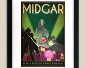 12x18 Final Fantasy 7 Inspired - MIDGAR Retro Tourism Print Poster featured image