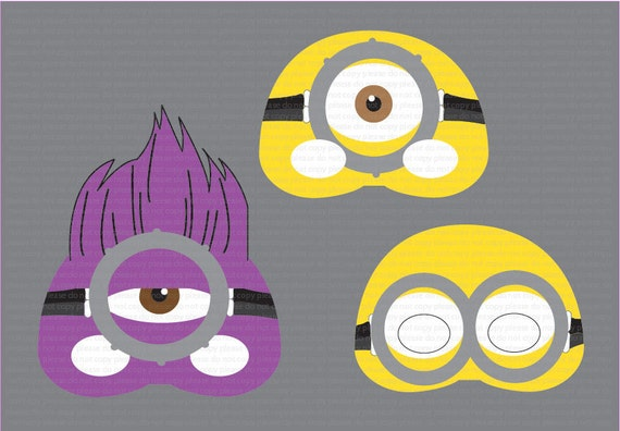 The gallery for purple minion printables for Minion mask template