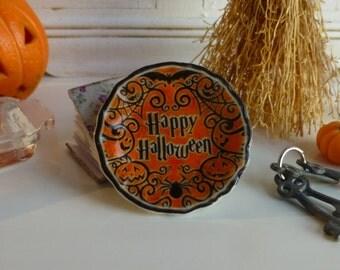 Dollhouse Miniature Happy Halloween Plate 1:12 scale