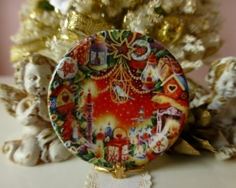 Christmas Collection  Nº 5 Plate for Dollhouse