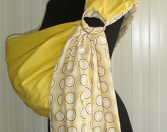 Baby Ring Sling /Baby  sling Carrier /Reversible Baby Sling /Baby  sling Wrap /Yellow Baby sling /Baby Gift