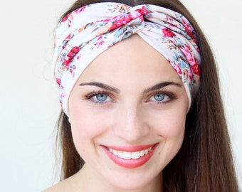 Floral  Print Turbans Twisted Headband great accessory for your outfit