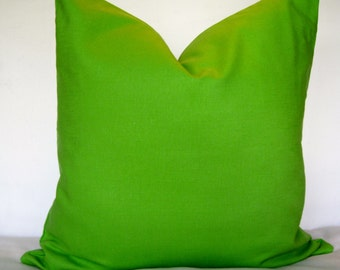 20x20 Linen Pillow Cover. Chartreuse Green Pillow Cover. Solid Pillow Cover.