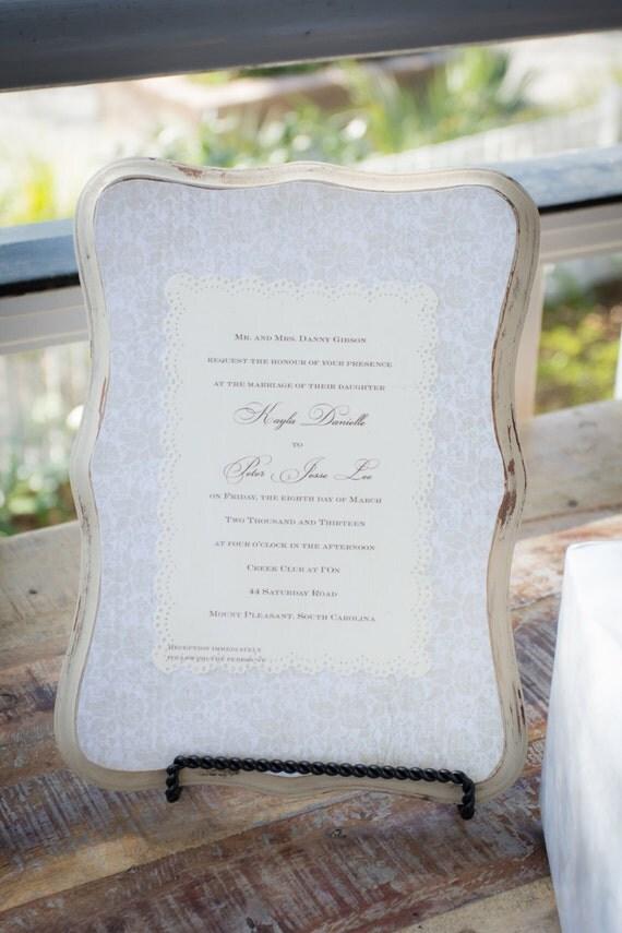 Keepsake wedding invitation plaque like this item stopboris Choice Image