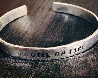 Personalized Bracelet,  Engraved Bracelet, custom bracelet, gypsy, hippie, quote 1/4""