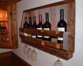 Reclaimed barnwood/Wine Stave wine rack - WineStaveCrafts