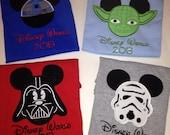 boys star wars Mickey Ears Shirt
