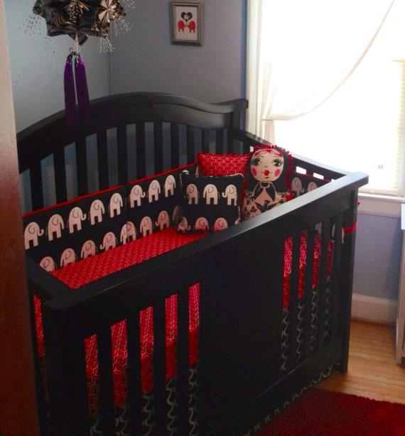 Red And Black Elephant Crib BeddingBoy Girl By