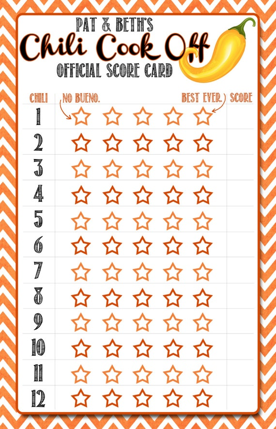 Chili Cook Off Score Card | newhairstylesformen2014.com