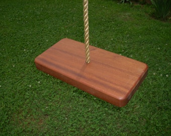 Wood Tree Swing- Sapele 1 Hole