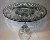 Wine Glass Plate Serving Tray / Cake Stand. Table Centerpiece.