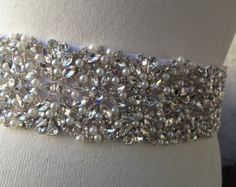 Bridal Sash,Wedding Sash Belt, Luxury Wedding Belt Sash , Best Seller Bridal, Rhinestone  Pearl Sash Belt,Best seller