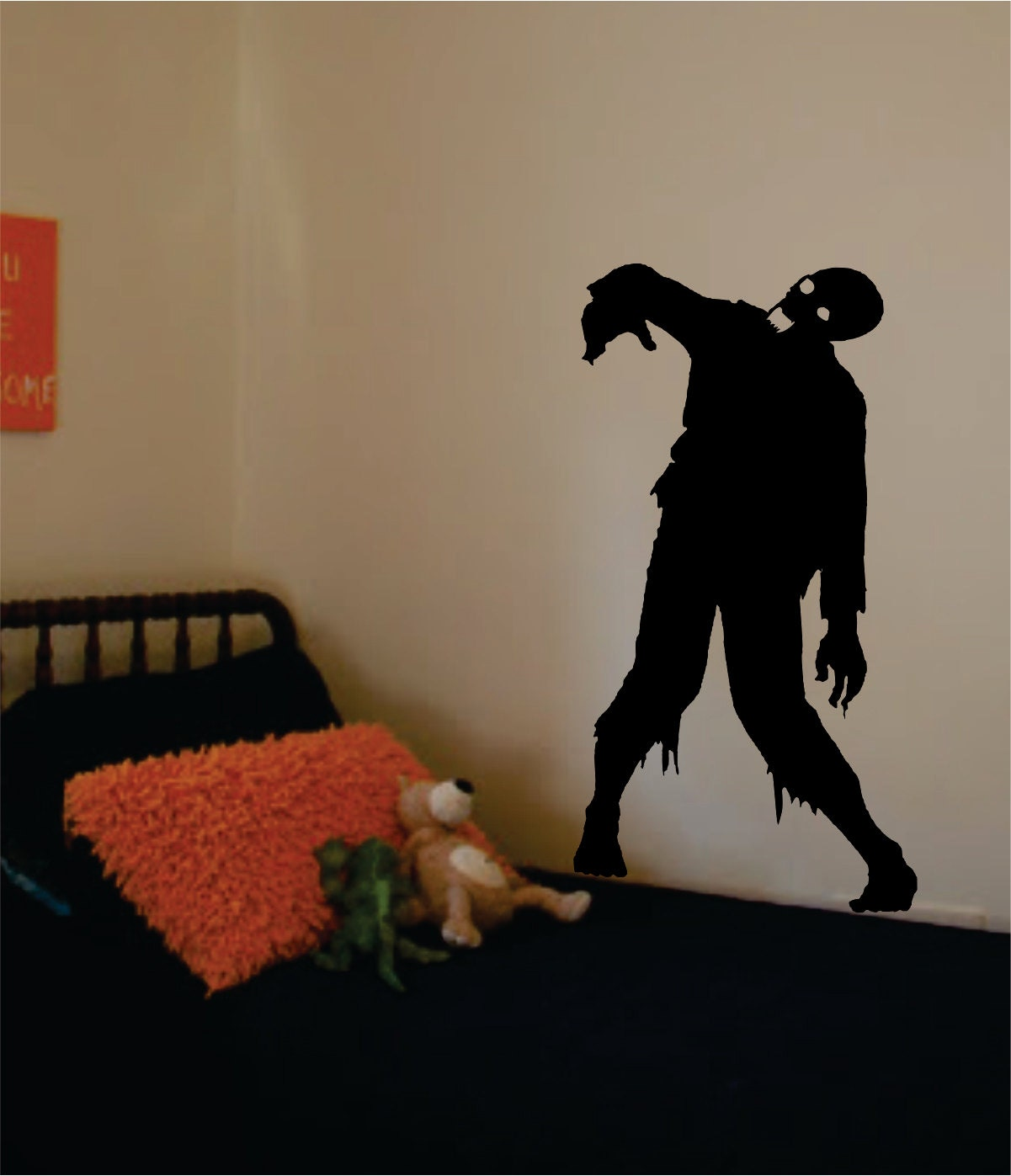 Zombie decal sticker vinyl wall art kid boy girl teen for Zombie room decor