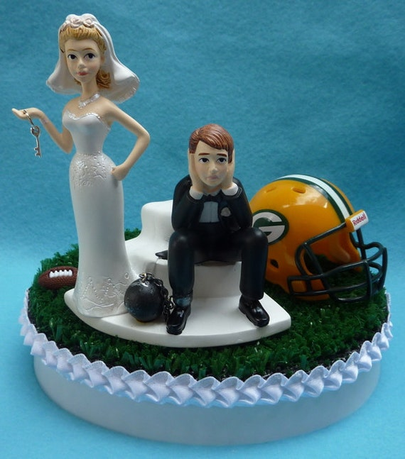 green bay wedding cakes wedding cake topper green bay packers gb football themed 14966