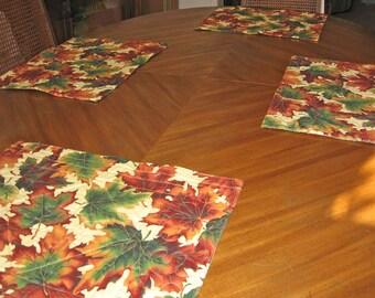 Autumn Leaves Placemats