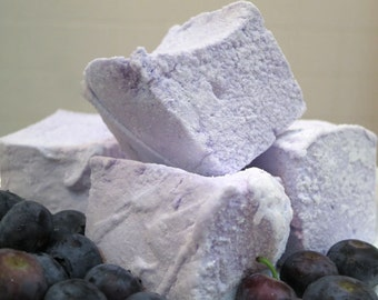 Blueberry Marshmallows - 1 dozen Gourmet homemade marshmallows