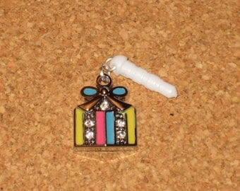 Christmas Xmas Gift Present Cell Phone Dust Plug Charm Attached