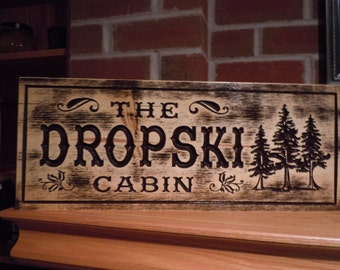 Camping Signs Wooden Signs Custom Outdoor Name Sign Personalized Wooden Signs Custom Wood Signs Custom Wooden House Signs Pine 306