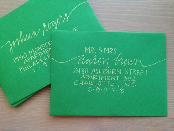 Wedding Invitation Envelope Calligraphy: Wedding Invitation Calligraphy Handmade Envelope Addressing