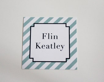 Personalized Gift Tags- Stripes