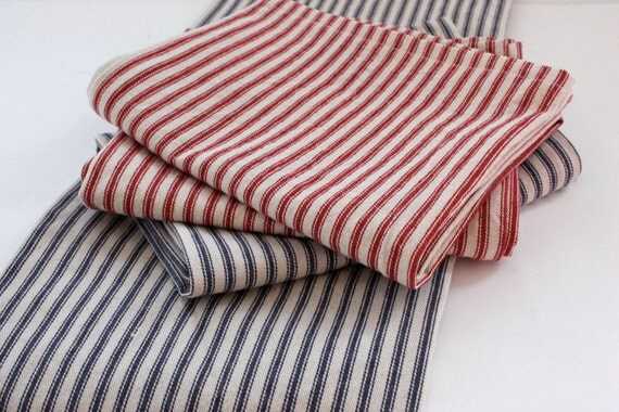 Cotton dish towel, cotton tea towels,  ticking stripe towel, set of 2 cotton towels, kitchen towels,rustic kitchen towels,dish towels
