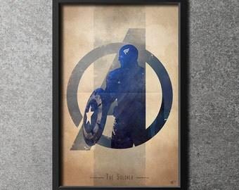 Giclee Art Print 'Avengers Assembled: The Soldier'