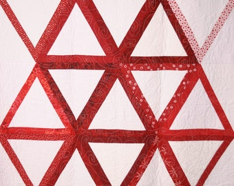 Change Is Upon Us in Red & White, 45 X 63, throw or wall hanging