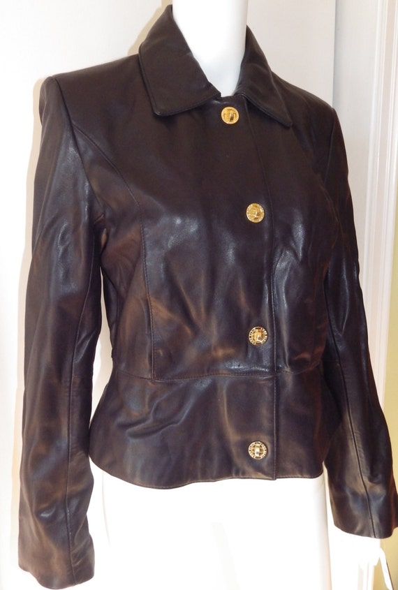 Anne klein leather jacket