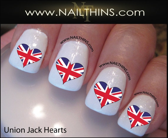 British nail decal union jack flag heart nail art nailthins from british nail decal union jack flag heart nail art nailthins from nailthins on etsy studio prinsesfo Image collections