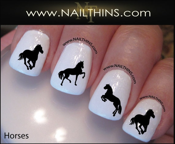 Like this item? - Horse Nail Decal Equestrian Horses Country Nail Art Designs By