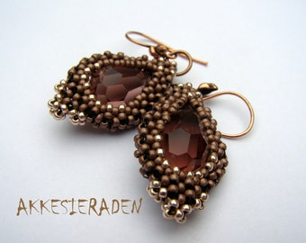 English pattern for the  Earrings with Drops