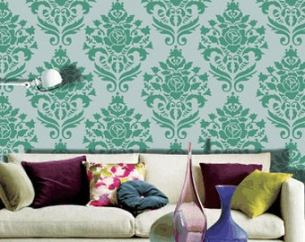 Wall painting ideas, walln stencil, Dhamask wall stencil,DS-19
