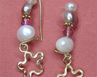 BRIDAL Earrings. Bridal Earrings Handmade. Valentine Day. Gift For Her. Goldfield & Swarovski Earrings. Made in Israel. FREE SHIPPING!