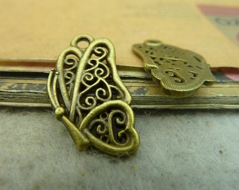 20pcs 13x24mm Antique Bronze Butterfly Charms Pendants Jewelry Findings Wholesale AC3755