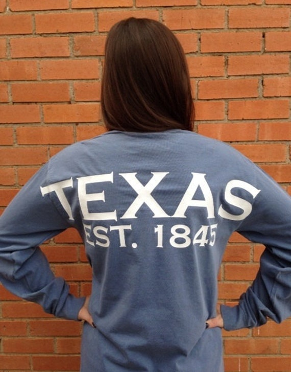 Texas spirit long sleeve t-shirt Texas shirt Lone Star State