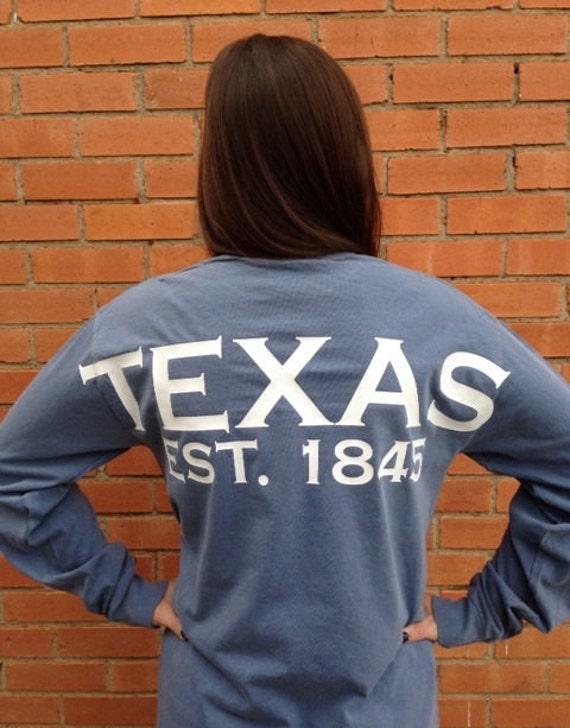Texas spirit long sleeve t-shirt Texas shirt Lone Star State