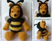 Crochet : patron amigurumi Winnie l'abeille