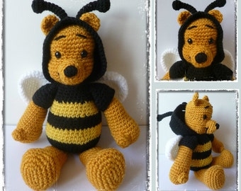 Crochet pattern Winnie the bee - Amigurumi