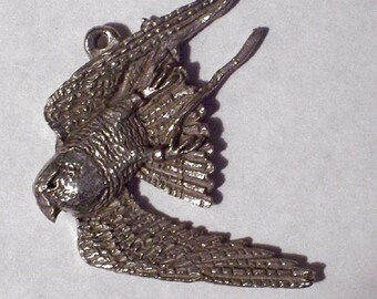 Diving Falcon Pendent or Pin     New Design........{ My B.Day  SALE  buy 1 get 1 free   5- 21  tell  5- 31 }