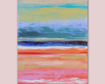 """Original Abstract Art Painting  •  30"""" x  24"""" Contemporary Art  • MARS LANDING  •  Original Contemporary Painting  •  Modern Art Painting"""