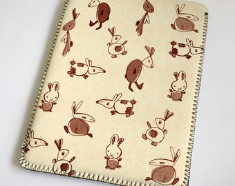 Rabbits - beige - iPad Case - iPad Sleeve - iPad Cover