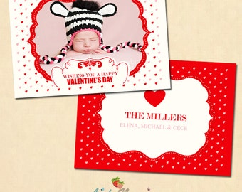 INSTANT DOWNLOAD Valentine's day card template - CA225