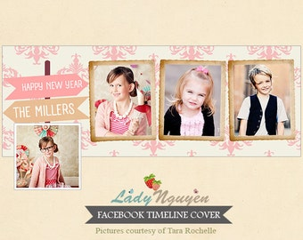 INSTANT DOWNLOAD New Year Facebook timeline - Template for photographers - F105