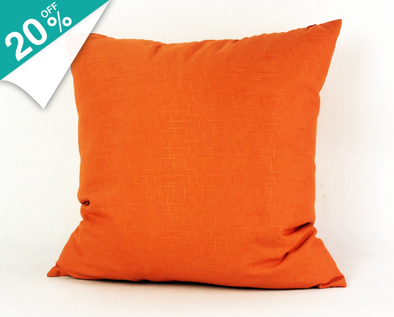 Free Shipping Orange Decorative Throw Pillows Pillow by FullHouses