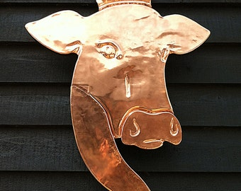 Architectural graphic signage from your drawing or picture in Copper  , craftsman made from your artwork