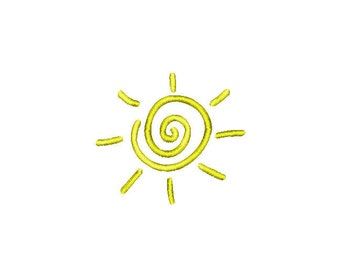 Buy3Get1 FREE - Machine Embroidery Filled Sunny Sun - INSTANT DOWNLOAD