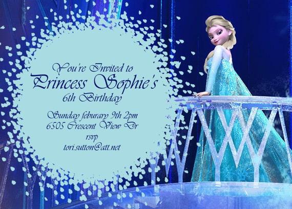 Items similar to frozen birthday invitation disney s frozen disney
